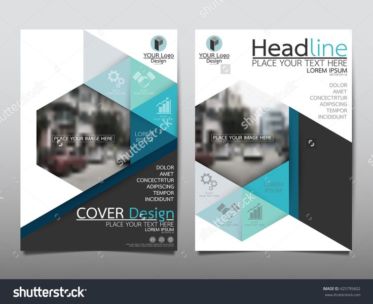 Blue Technology Triangle And Hexagon Annual Report Brochure Flyer Design…