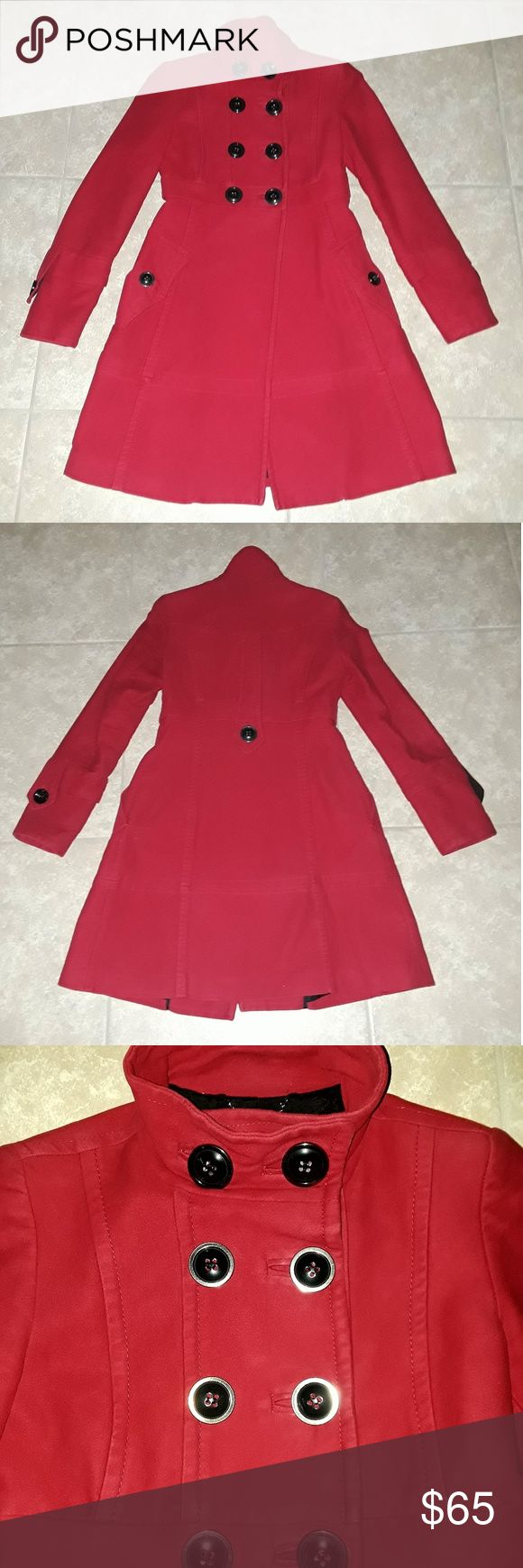 Мango Coat Mango coat. 100% heavy  cotton with  lining. Size S. High waist line. Elegant and bright. Mango Jackets & Coats Pea Coats