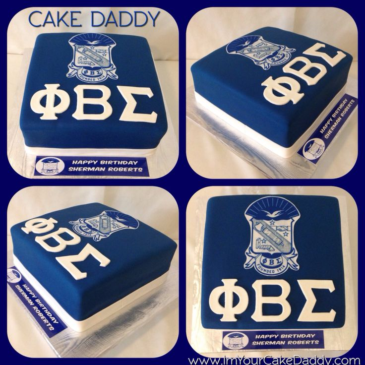 Phi Beta Sigma birthday cake.