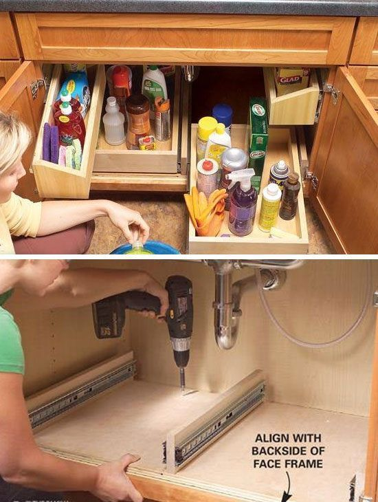 17 best ideas about kitchen sink storage on pinterest under kitchen sink storage under - Kitchen storage ideas for small spaces ...
