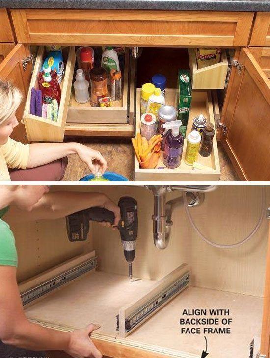 17 Best Ideas About Kitchen Sink Storage On Pinterest Under Kitchen Sink Storage Under