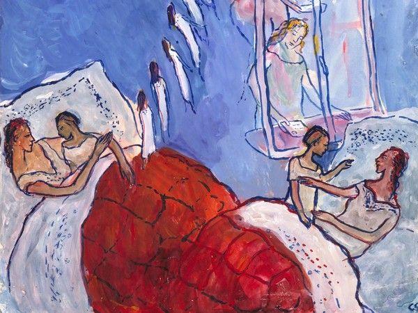 Charlotte Salomon, Tempera dall'opera Vita? o Teatro?, Palazzo Reale, Milano 30 marzo - 25 giugno 2017 | Courtesy of Collection Jewish Historical Museum, Amsterdam | © Charlotte Salomon Foundation Charlotte Salomon®