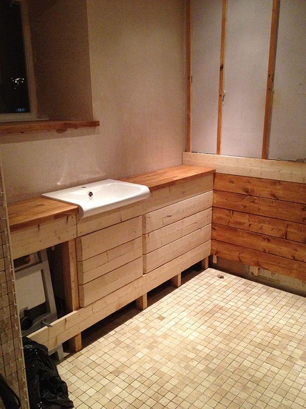 Solid Oak Bathroom Worktops With Bathroom Installation In Leeds