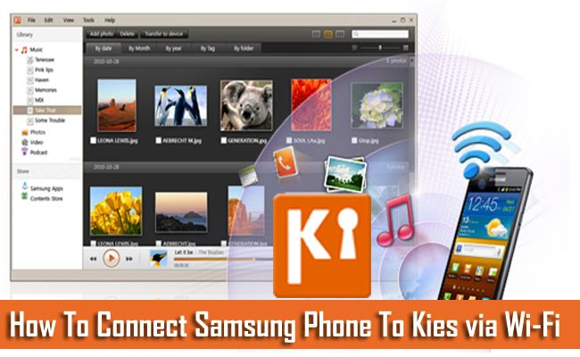 How To Connect #Samsung Phone To #Kies via Wi-Fi. 1. Prepare Your #Computer For Kies Through Wi-Fi. 2. Steps to Connect Samsung Phone with Kies #Wirelessly.