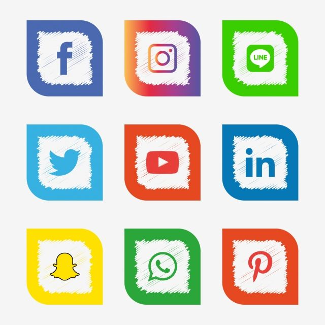 Social Media Icons Set Logo Vector Illustrator Social Icons Logo Icons Media Icons Png And Vector With Transparent Background For Free Download Social Media Icons Media Icon Logo Design Free Templates
