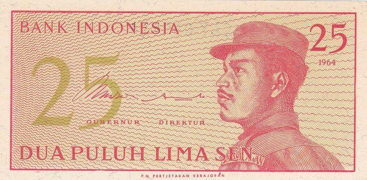 Bank Indonesia 25 Dua Puluh Lima Sen 1964 CLY 089414