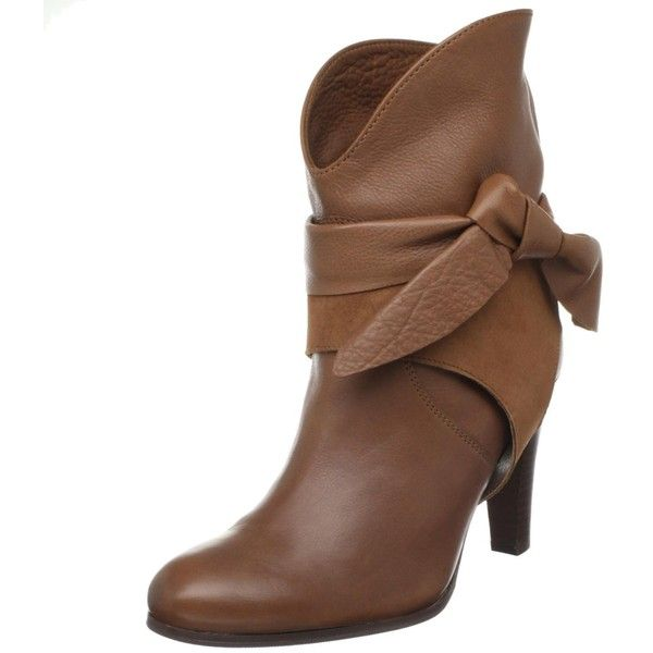 Antik Batik Women's Anis Low Ankle Boot ❤ liked on Polyvore featuring shoes, boots, ankle booties, brown, ankle boots, low ankle boots, brown leather boots, high heel booties, brown leather ankle booties and short leather boots