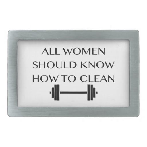 Weightlifting For Women Rectangular Belt Buckles
