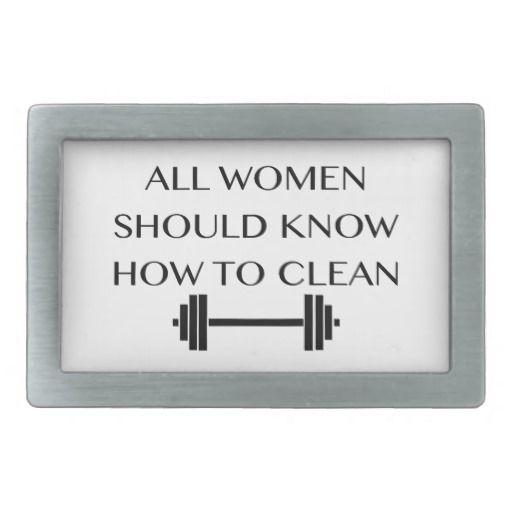 Weightlifting For Women Rectangular Belt Buckles