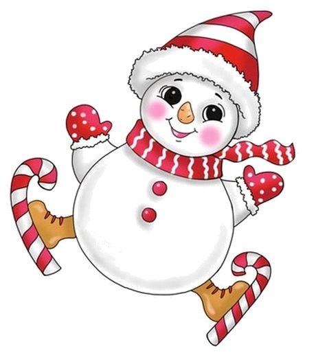 1042 best clipart et image images on pinterest christmas - Clipart bonhomme de neige ...