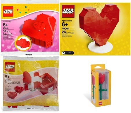 Valentine, Wedding, Love, Anniversary, Proposal Lego sets, roses Heart Boxes in our eBay store or http://www.brickbrats.com