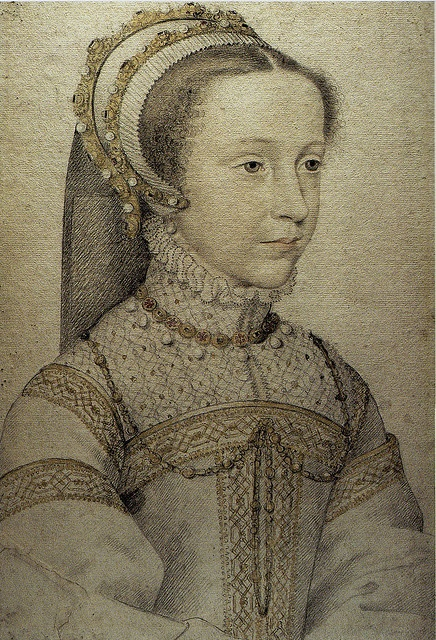 Mary Queen of Scots by François Clouet, wife of Francois II.