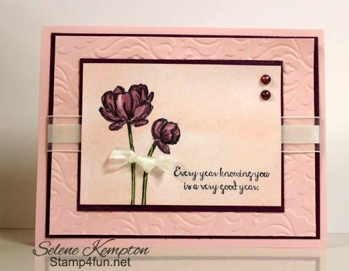 Stampin' Up  Bloom with Hope and Blendabilities Card