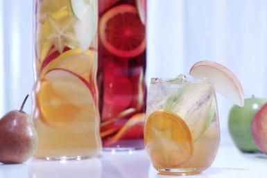 Apple, Pear, and Pineapple Sangria, Oh My!: Try a little apple vodka in your sangria.