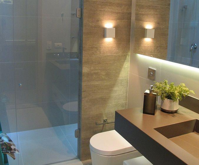 17 beste ideeën over Arandela Banheiro op Pinterest  Cortinas para dormitori -> Banheiro Decorado Com Luminaria
