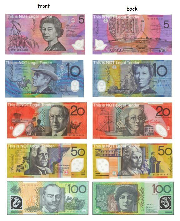current Australian Dollar banknotes
