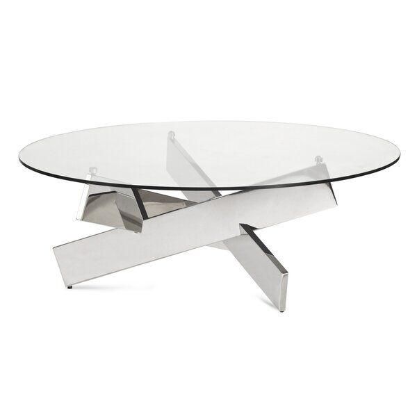 Tassone Abstract Coffee Table Round Glass Coffee Table Coffee