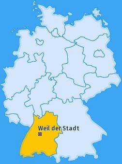 Karte Weil der Stadt- Baden Württenberg