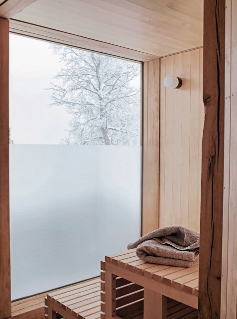 Wow! Beautiful sauna!
