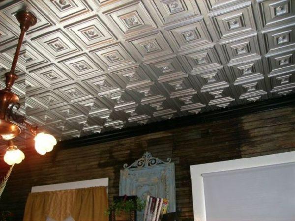 Deckengestaltung Wohnzimmer Deckenpaneele Verlegen Paneel Ideen