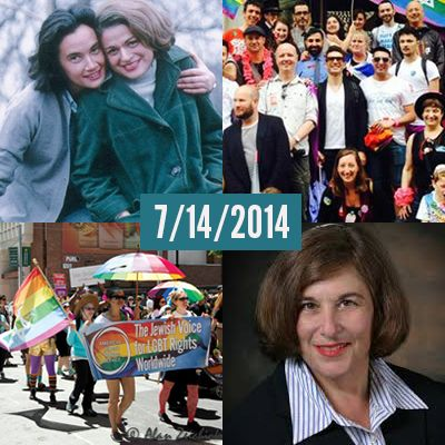 Some of our top Jewish/LGBT stories today: Edie Windsor recalls meeting Thea, and trying to find a date at a bar *** Increasing support in LGBT people from synagogues across the UK *** For the first time, Reform Jews from around the Bay Area marched as one in San Francisco's pride parade *** Rabbi Denise Eger writes from Israel ***  Check out these stories and many more on our News section! http://awiderbridge.org/category/news/