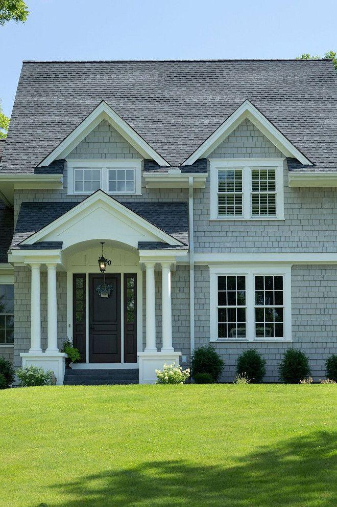 Grey Shingle Home with Cheerful Coastal Interiors