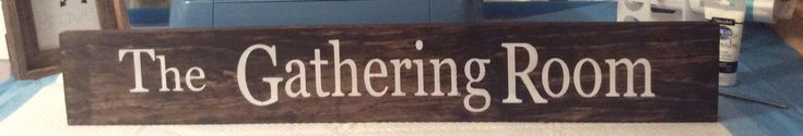 The Gathering Room, Sign, Farmhouse Decor, Dining Room Decor, Rustic Decor, Wall Decor, Family, wooden sign by RusticCurbsideCharm on Etsy