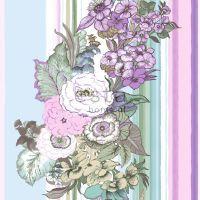 Tapetti Vintage Flowers 138114 0,53x10,05 m violetti/sinivihreä non-woven