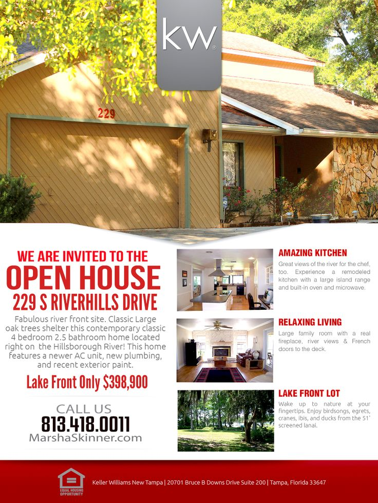 Open House Flyer Template. Free Open House Flyer Template – Click ...