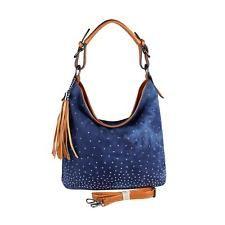 Jeans Donna Borsa shopper hobo-bag Rivetti in strass borsa con manici borsa: EUR 31,40End Date: 02-set 07:08Buy It Now for only: US EUR…