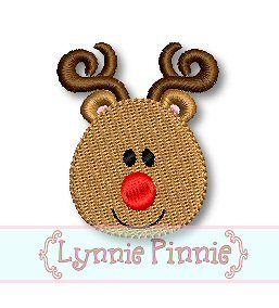 Free Embroidery Designs - Simple Reindeer Face Applique & Mini 4x4 5x7 6x10 SVG - Welcome to Lynnie Pinnie.com! Instant download and free ap...