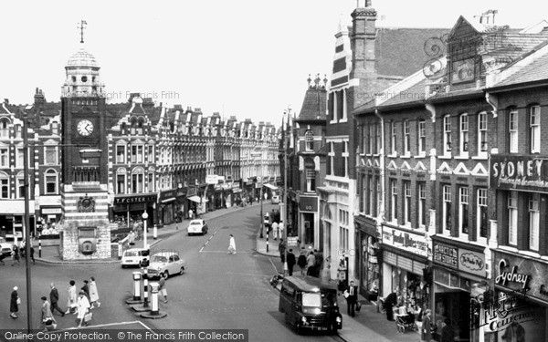 Crouch End, Clock Tower And Broadway c.1965, from Francis Frith