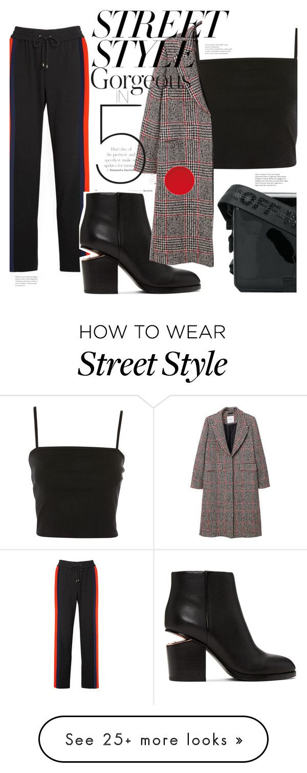"""Street Style"" by elenaafiya on Polyvore featuring Kenzo, Alexander Wang, Off-White, Topshop, MANGO, contestentry and nyfwstreetstyle"