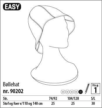 Bøllehat - 90202 - Stof & Stil
