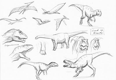 How to Draw Real Dinosaurs | sketch them on the spot below are some drawings of mainly ...