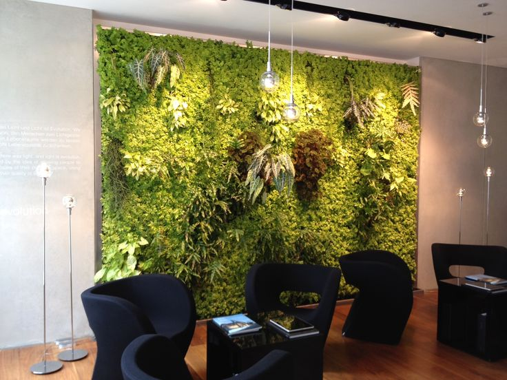 Modern Indoor Planters Designs To Your Home Garden Nice Indoor Green Wall  Various Plants Combined Stylish Pendant Lamps Contemporary Black Coffee  Table ...