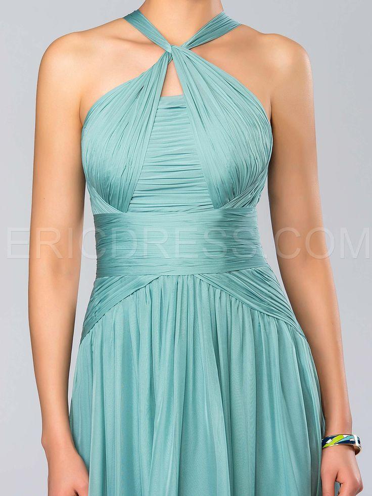A-Line Halter Floor-Length Evening Dress 4