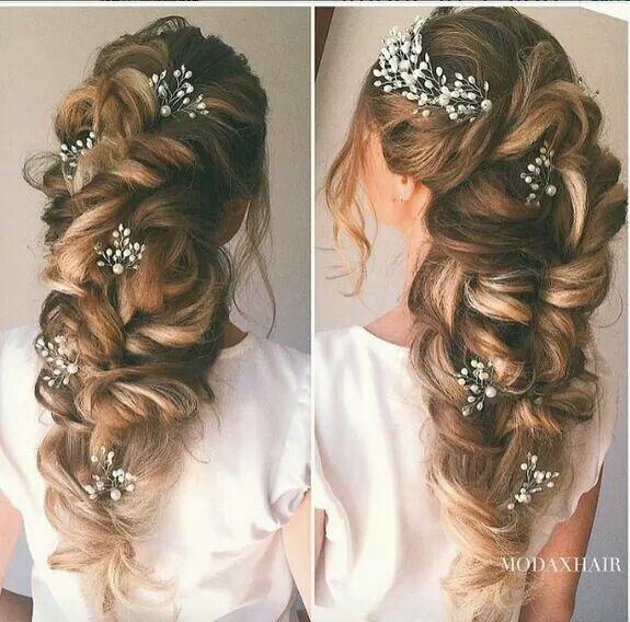 Wedding, prom hair. Great formal look for long hair.