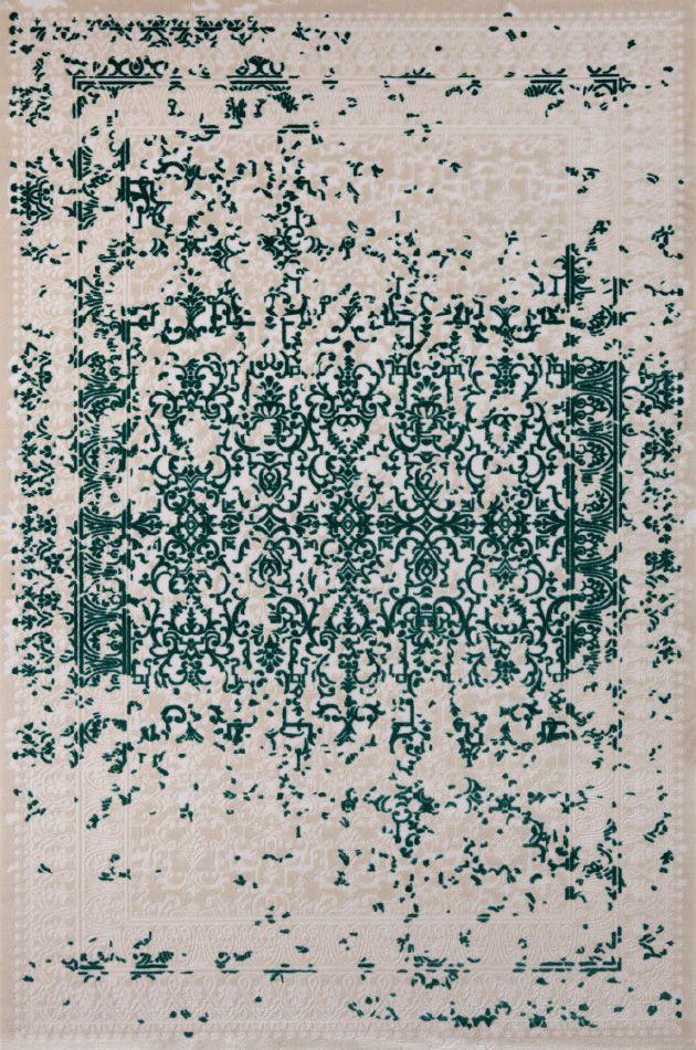 Bahariye Midyat GV 6537 Turkuaz -  Turkuaz Desenli Halılar