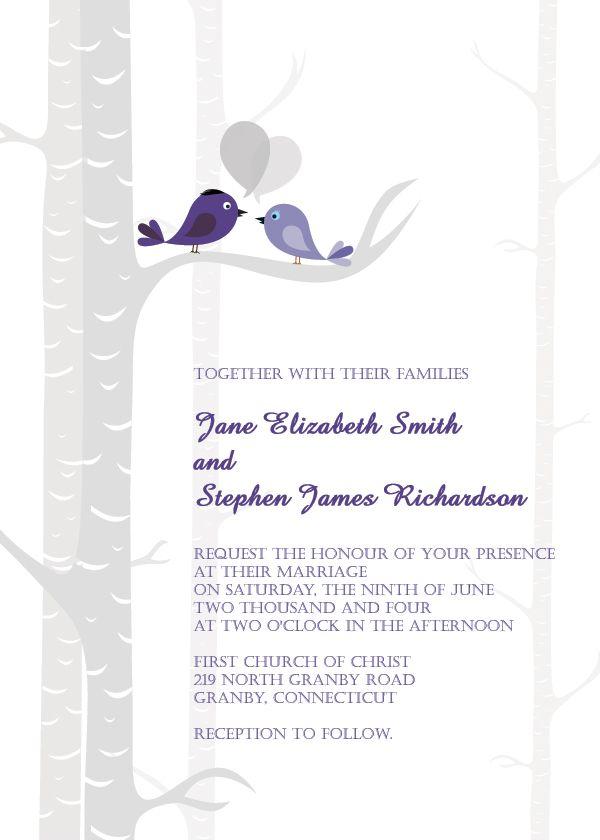 Wedding Invitations Free Birds Free Wedding Invitation Template