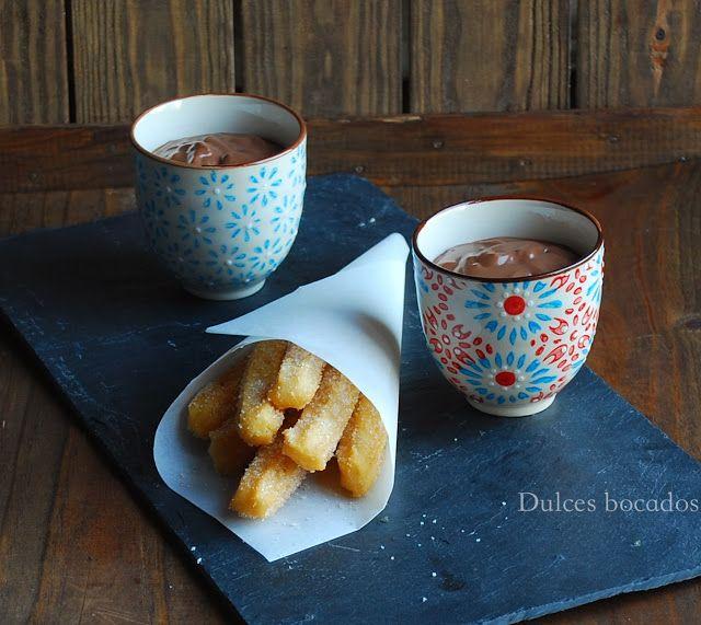 Сладкие закуски: горячие пряные шоколад Чуррос