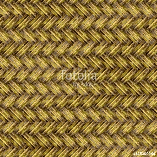 Vektör:  Golden Wicker Seamless Pattern