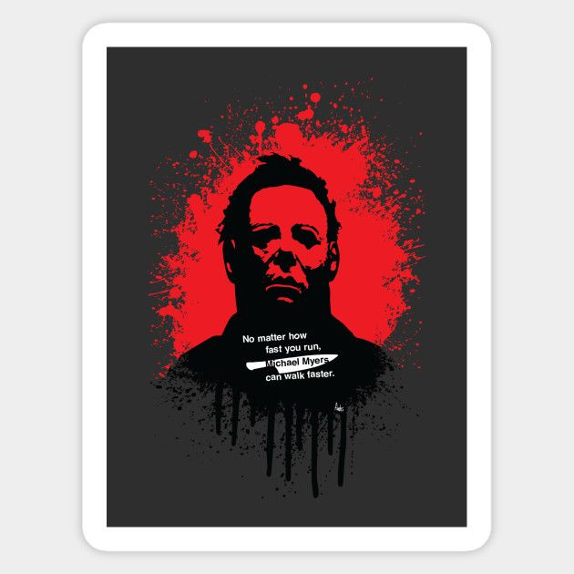 Halloween sticker by Fimbis     Michael Myers, horror, art, scary movies, illustration, blood, movie poster, dark, stickers,