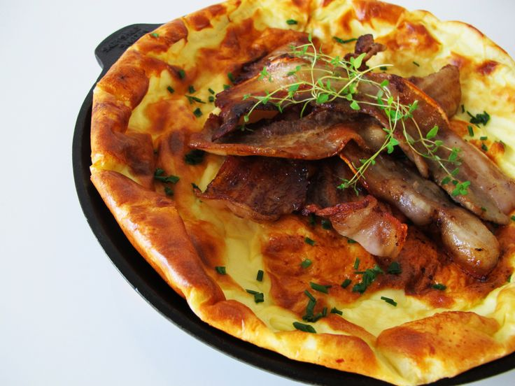 Äggakaka is a dish I would normally associate with breakfast or brunch, but it's considered lunch or even dinner fare in Sweden.
