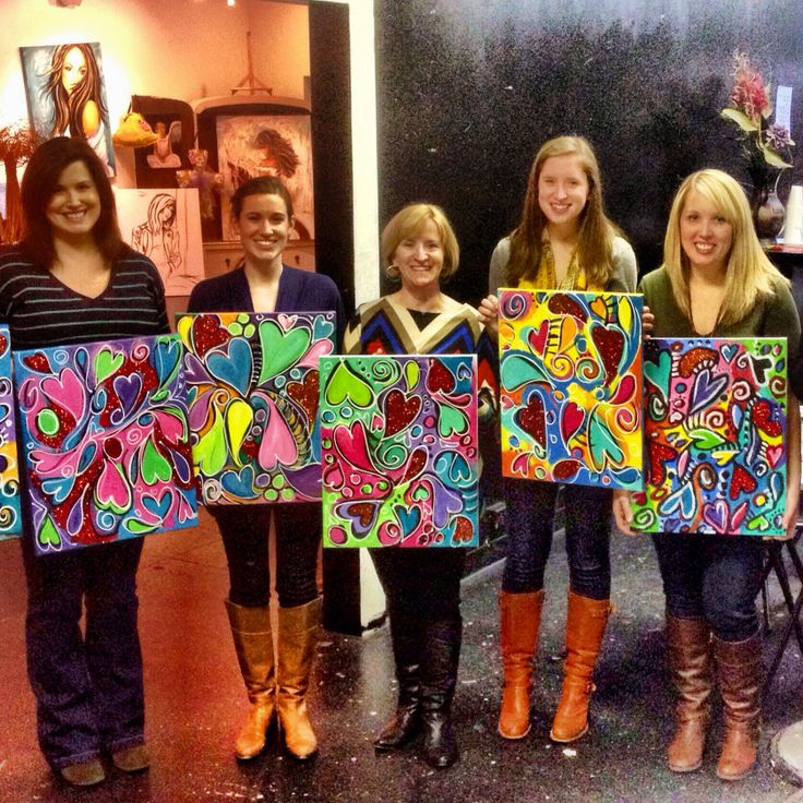 Love all the creative heart paintings!