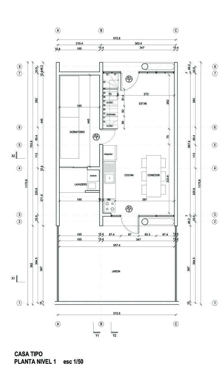Imagen 11 de 20 de la galería de Viviendas Ruca / Undurraga Devés Arquitectos. Planta Primer Nivel
