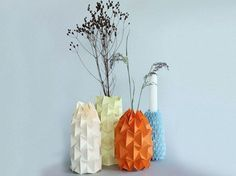 Kostenlose DIY-Anleitung: Magic-Ball-Vase falten / free diy tutorial: make origami vases, living accessory via DaWanda.com