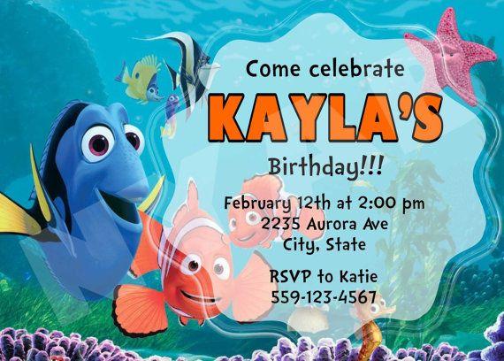Finding Nemo Invitations By Notyouraverageblonde On Etsy