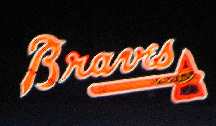 Braves sign in outfield at Turner Field Braves, Atlanta
