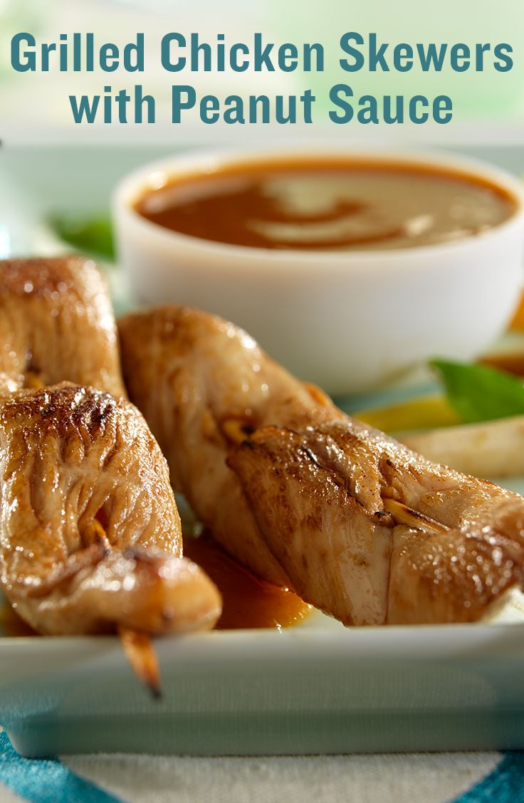 grilled chicken skewers with peanut sauce grilled chicken skewers ...